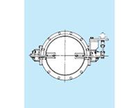 13-1形 フランジ形鋼板バタフライ弁(ダンパ)